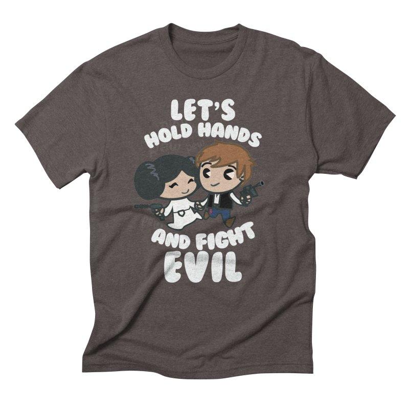 HOLD HANDS v.2 Men's Triblend T-Shirt by SIRDYNAMO ARTIST SHOP
