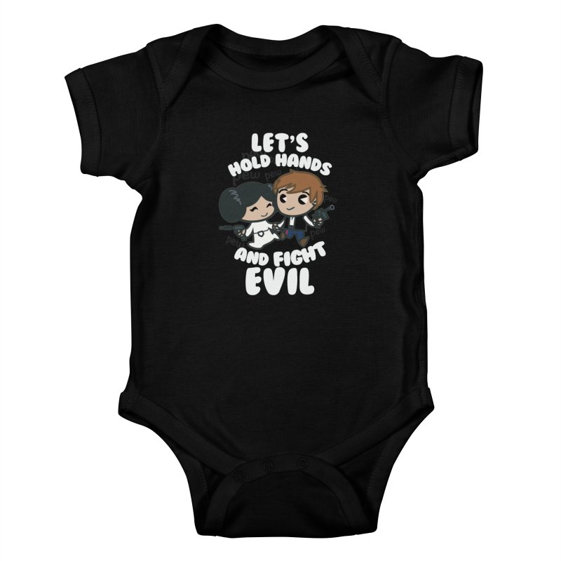 HOLD HANDS v.2 Kids Baby Bodysuit by SIRDYNAMO ARTIST SHOP
