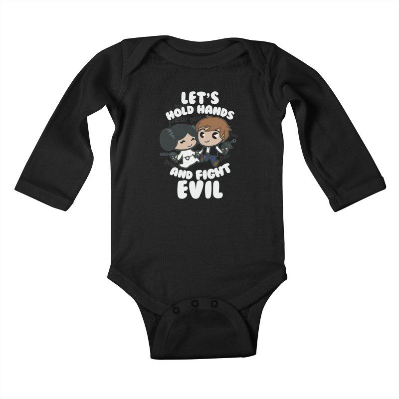 HOLD HANDS v.2 Kids Baby Longsleeve Bodysuit by SIRDYNAMO ARTIST SHOP