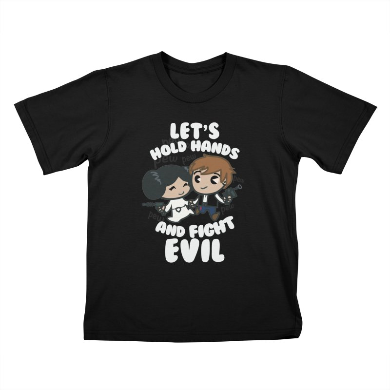 HOLD HANDS v.2 Kids T-Shirt by SIRDYNAMO ARTIST SHOP