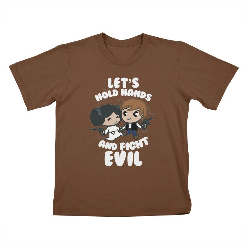 HOLD HANDS v.2 Kids T-Shirt by SIRDYNAMO ARTIST SHOP