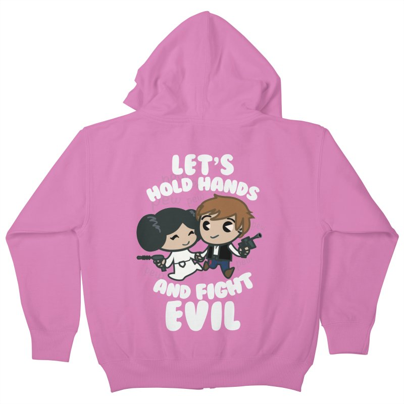 HOLD HANDS v.2 Kids Zip-Up Hoody by SIRDYNAMO ARTIST SHOP