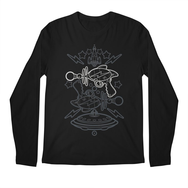 RETRO FUTURE GUNNER Men's Longsleeve T-Shirt by SIRDYNAMO ARTIST SHOP