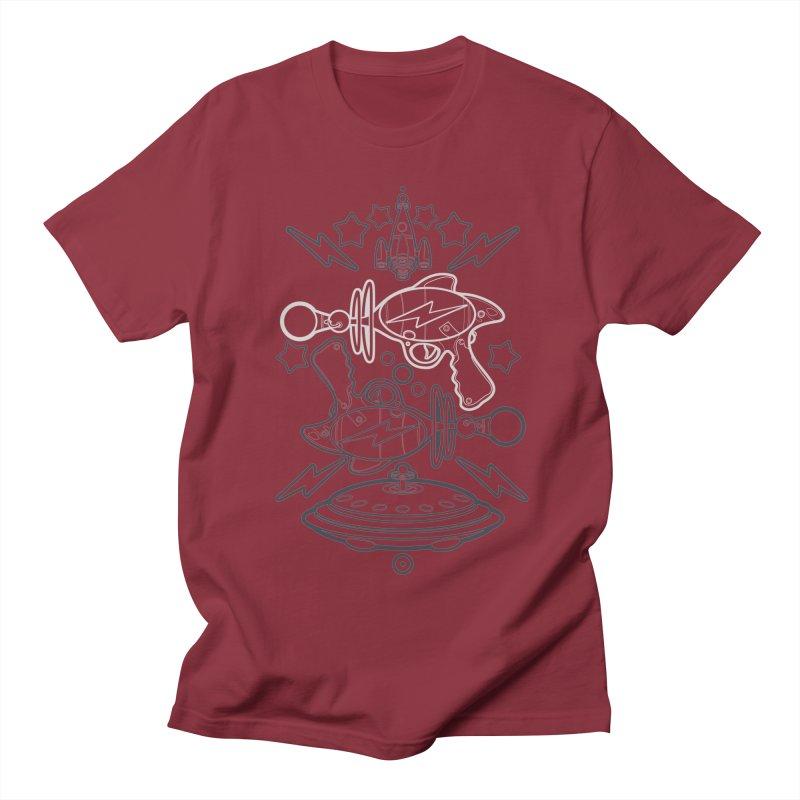 RETRO FUTURE GUNNER Men's T-shirt by SIRDYNAMO ARTIST SHOP