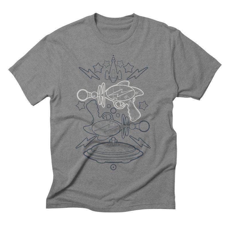 RETRO FUTURE GUNNER Men's Triblend T-Shirt by SIRDYNAMO ARTIST SHOP