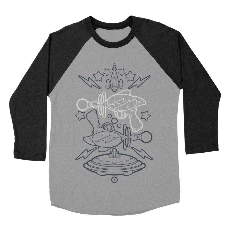 RETRO FUTURE GUNNER Men's Baseball Triblend T-Shirt by SIRDYNAMO ARTIST SHOP