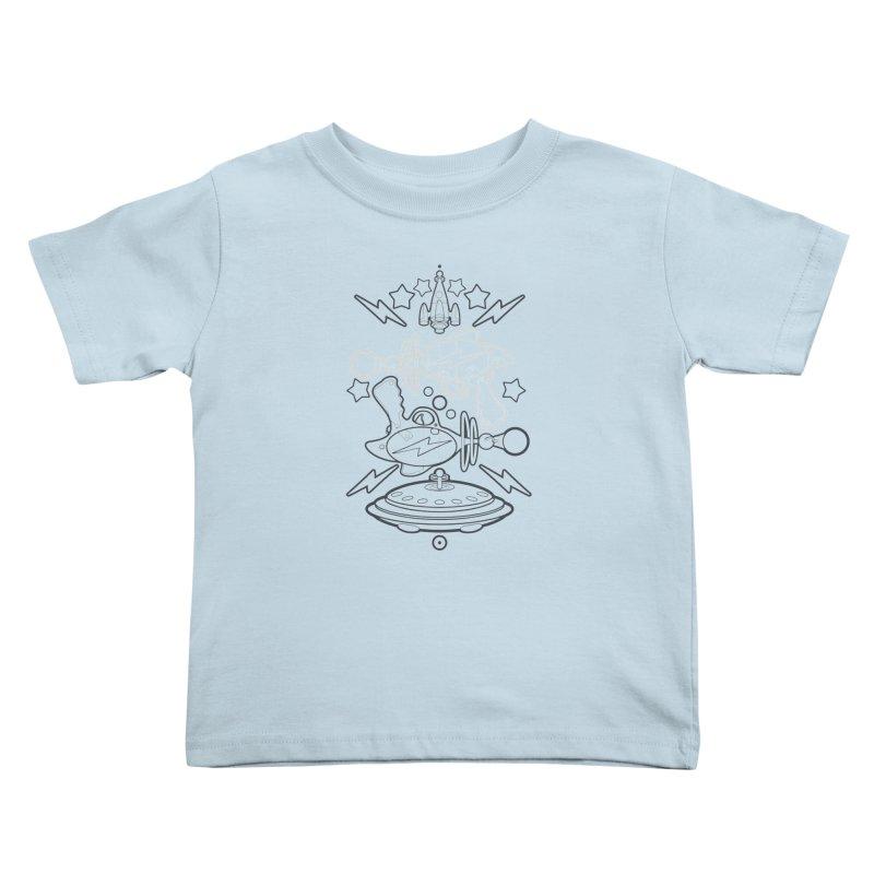 RETRO FUTURE GUNNER Kids Toddler T-Shirt by SIRDYNAMO ARTIST SHOP