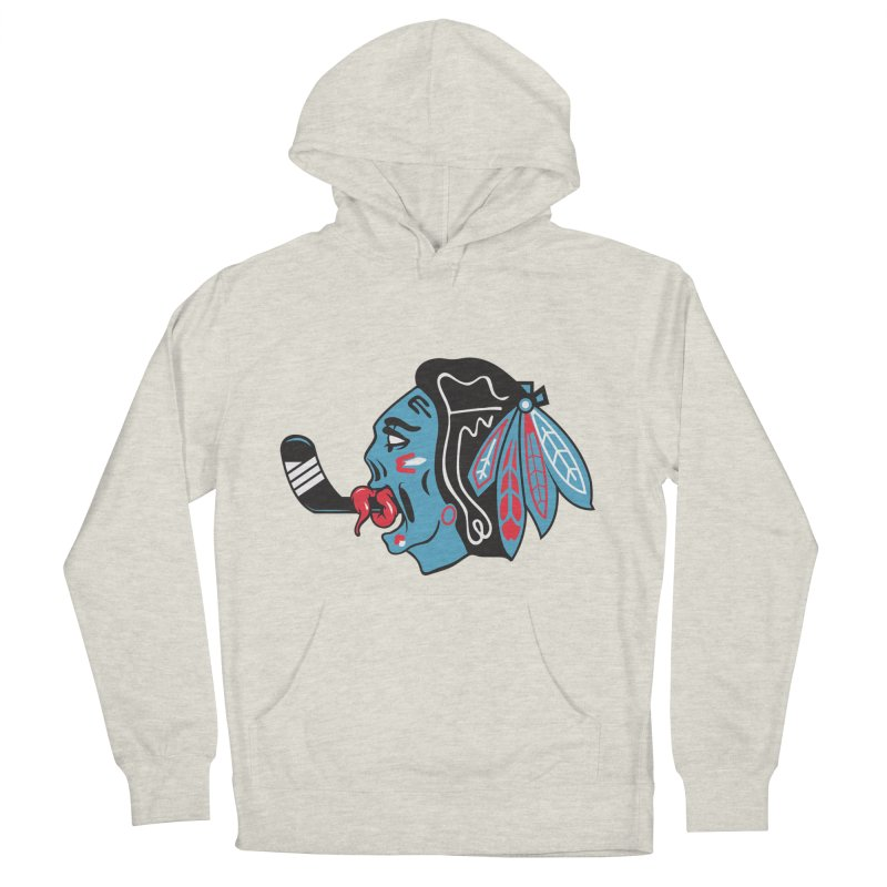 Zombie Hawk Men's French Terry Pullover Hoody by The Art Of Steven Luros Holliday