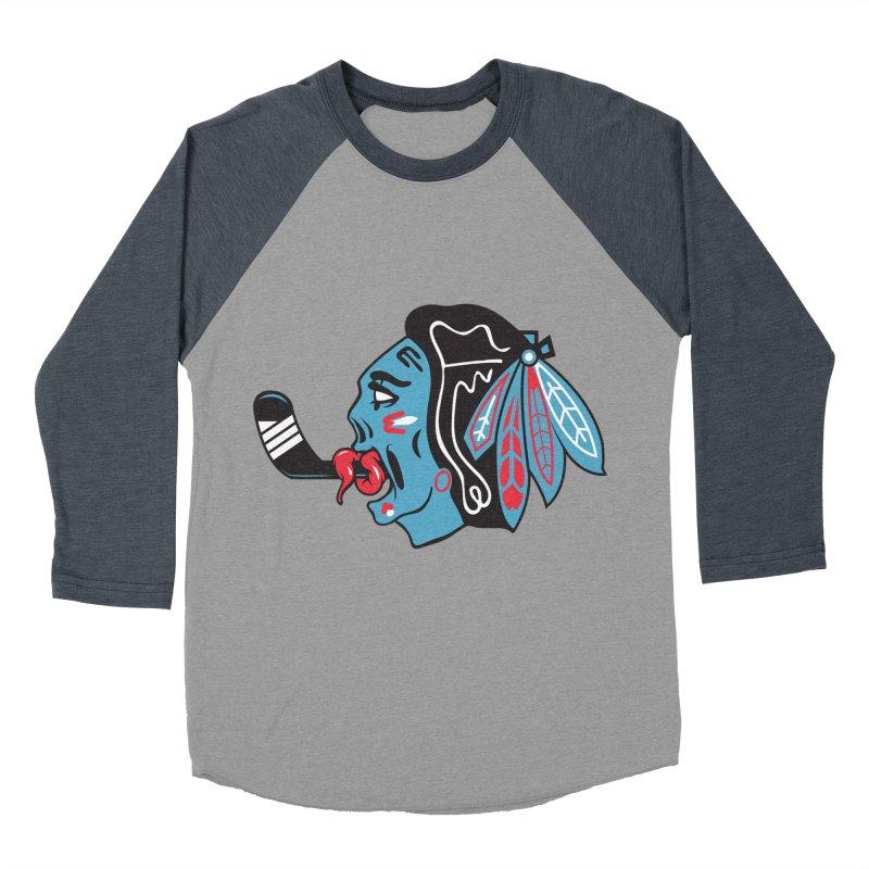 Zombie Hawk Men's Baseball Triblend Longsleeve T-Shirt by The Art Of Steven Luros Holliday