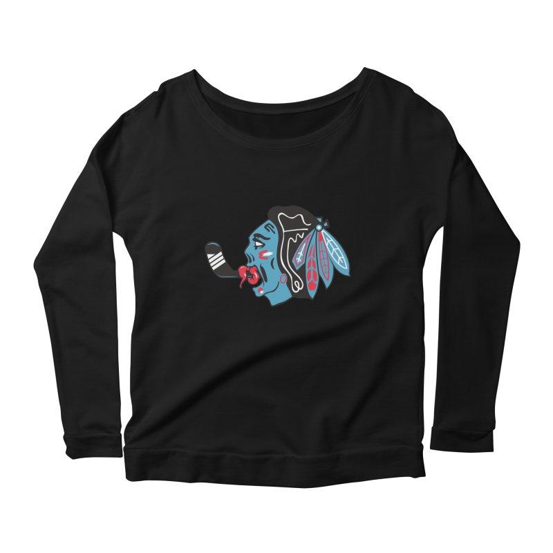 Zombie Hawk Women's Scoop Neck Longsleeve T-Shirt by The Art Of Steven Luros Holliday