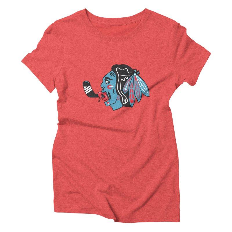 Zombie Hawk Women's Triblend T-Shirt by The Art Of Steven Luros Holliday