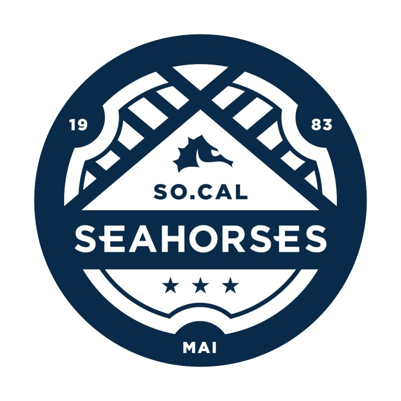 Seahorse Crest - Navy by SEAHORSE SOCCER's Artist Shop