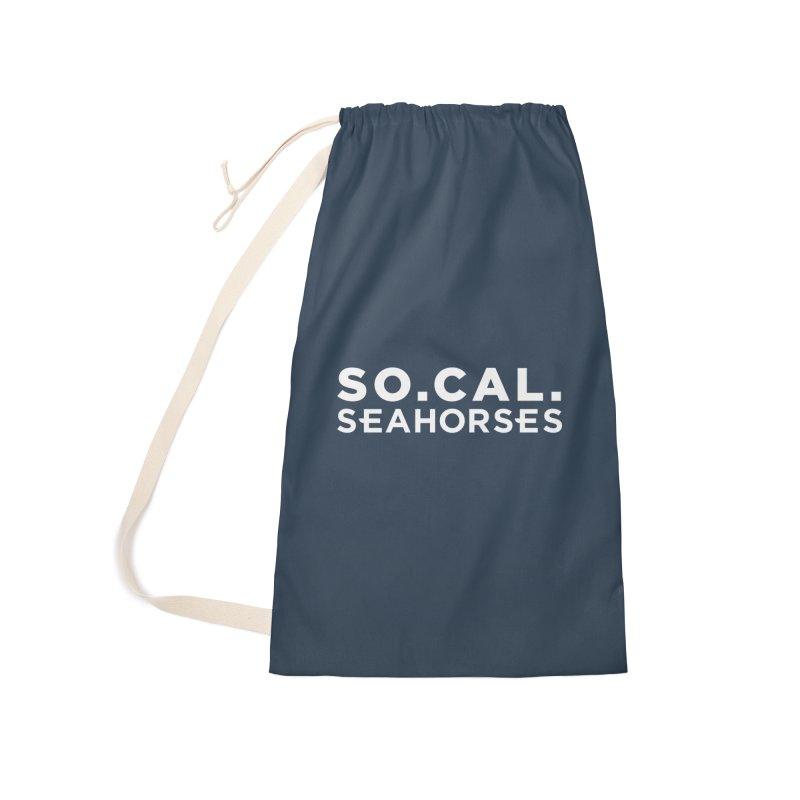 Seahorse Wordmark - White Accessories Bag by SEAHORSE SOCCER's Artist Shop