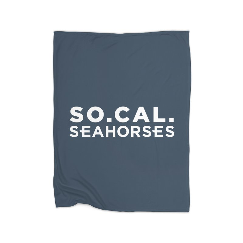 Seahorse Wordmark - White Home Blanket by SEAHORSE SOCCER's Artist Shop