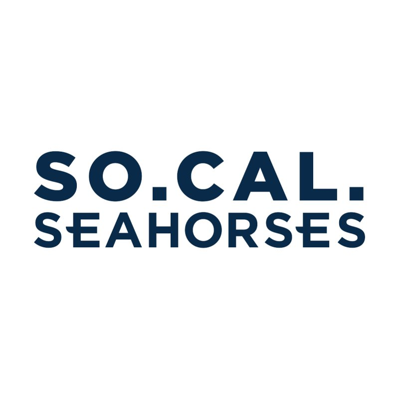 Seahorse Wordmark - Navy Accessories Water Bottle by SEAHORSE SOCCER's Artist Shop