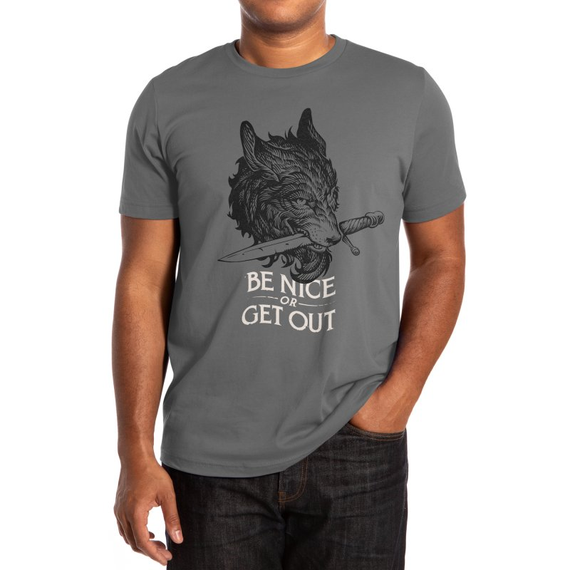 BE NICE! Men's T-Shirt by S&O Design Co.