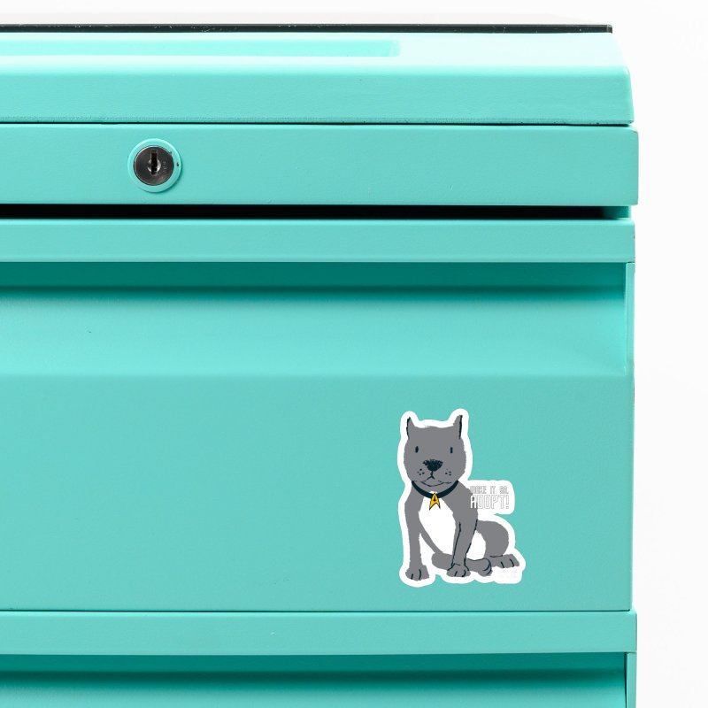 Make it so. Adopt! Accessories Magnet by SPCA of Texas' Artist Shop