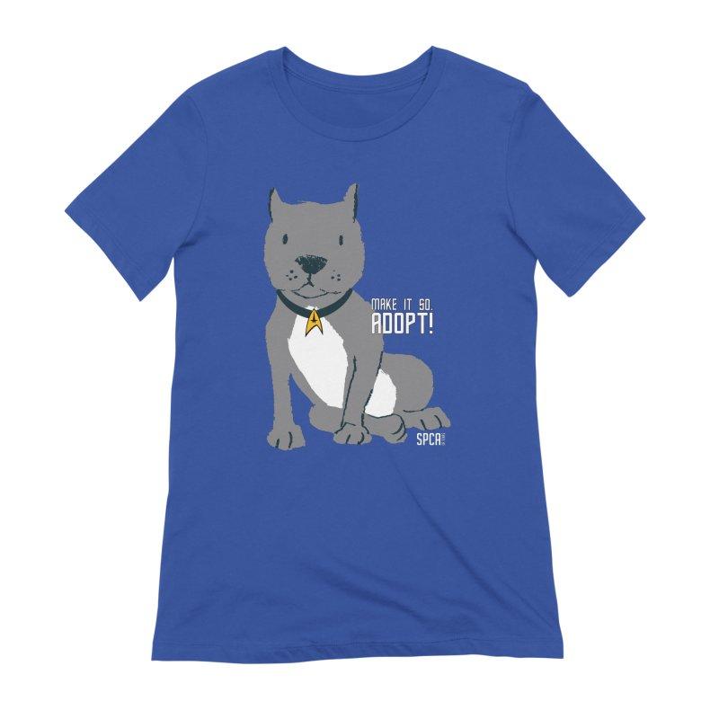 Make it so. Adopt! Women's Extra Soft T-Shirt by SPCA of Texas' Artist Shop