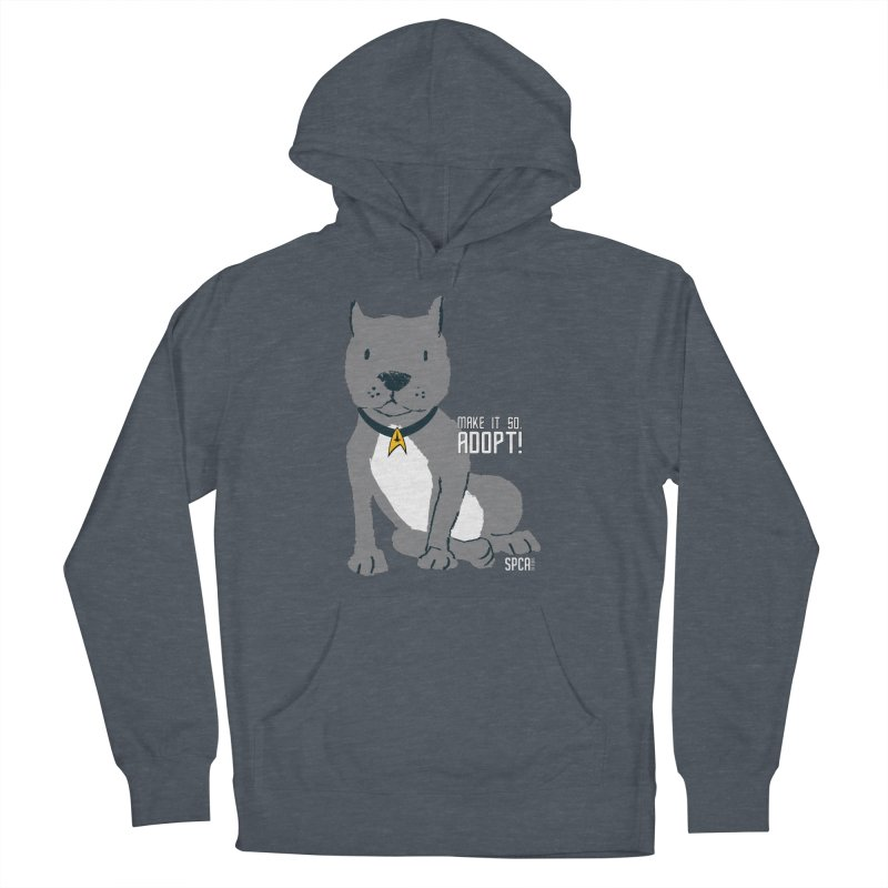 Make it so. Adopt! Men's French Terry Pullover Hoody by SPCA of Texas' Artist Shop