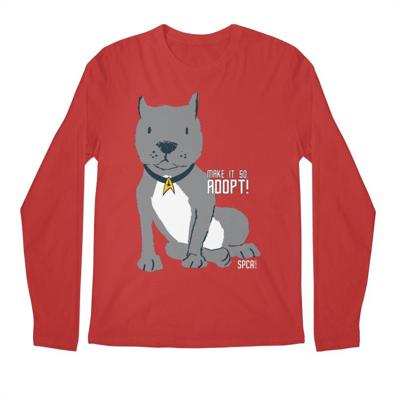 Make it so. Adopt! Men's Regular Longsleeve T-Shirt by SPCA of Texas' Artist Shop