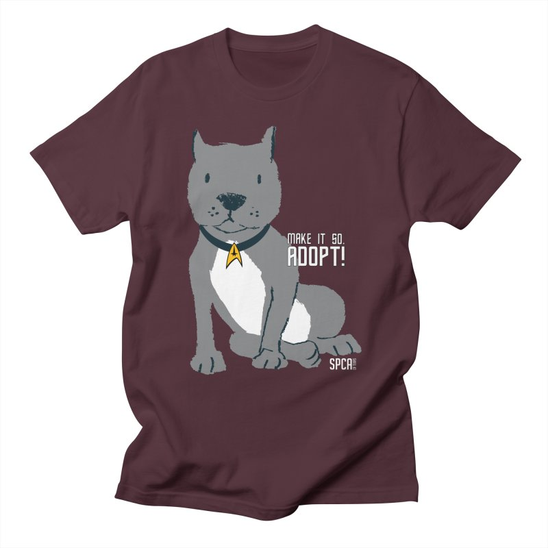 Make it so. Adopt! Men's Regular T-Shirt by SPCA of Texas' Artist Shop
