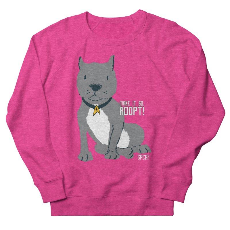 Make it so. Adopt! Men's French Terry Sweatshirt by SPCA of Texas' Artist Shop