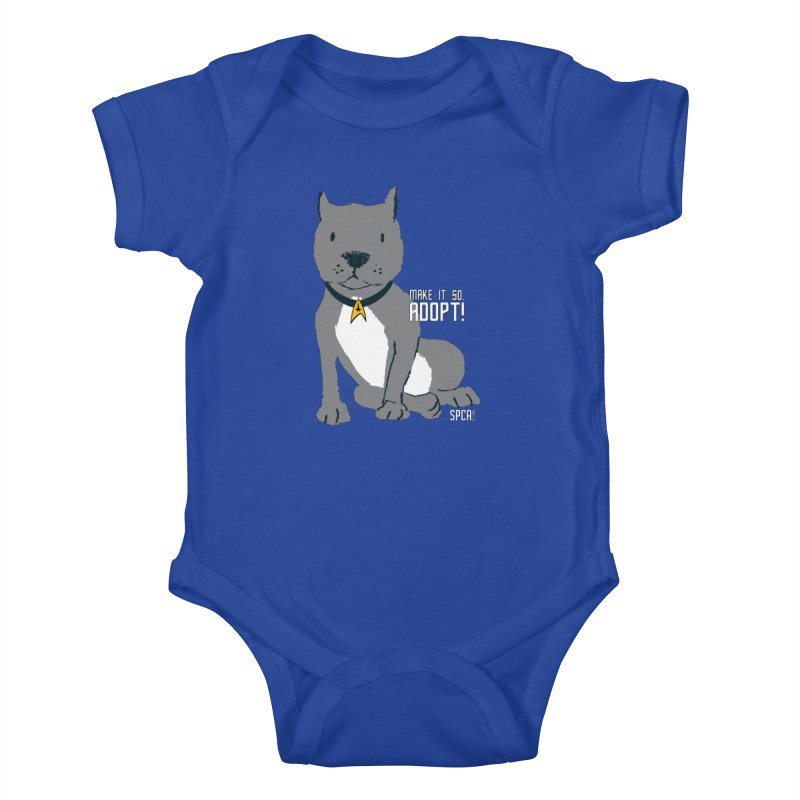 Make it so. Adopt! Kids Baby Bodysuit by SPCA of Texas' Artist Shop