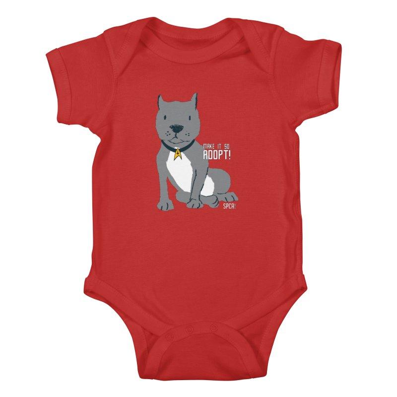 Make it so. Adopt! Kids Baby Bodysuit by SPCA of Texas' Artist Shop