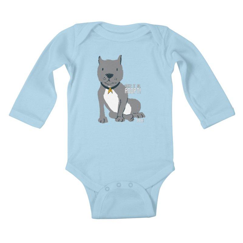 Make it so. Adopt! Kids Baby Longsleeve Bodysuit by SPCA of Texas' Artist Shop