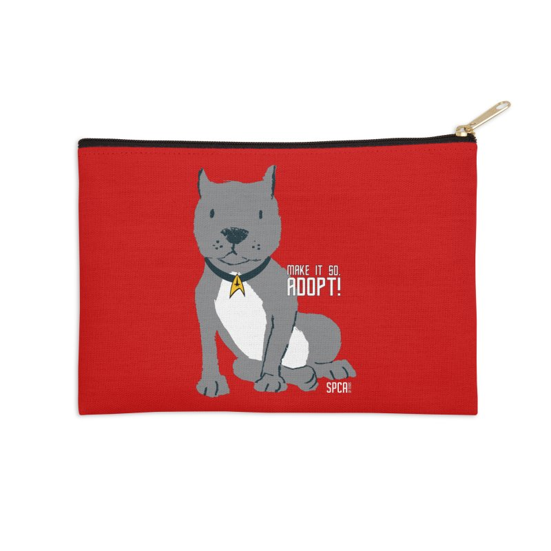Make it so. Adopt! Accessories Zip Pouch by SPCA of Texas' Artist Shop
