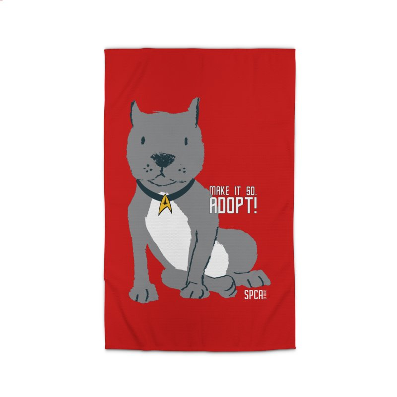 Make it so. Adopt! Home Rug by SPCA of Texas' Artist Shop