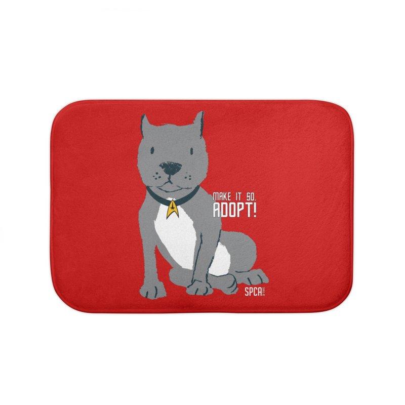 Make it so. Adopt! Home Bath Mat by SPCA of Texas' Artist Shop
