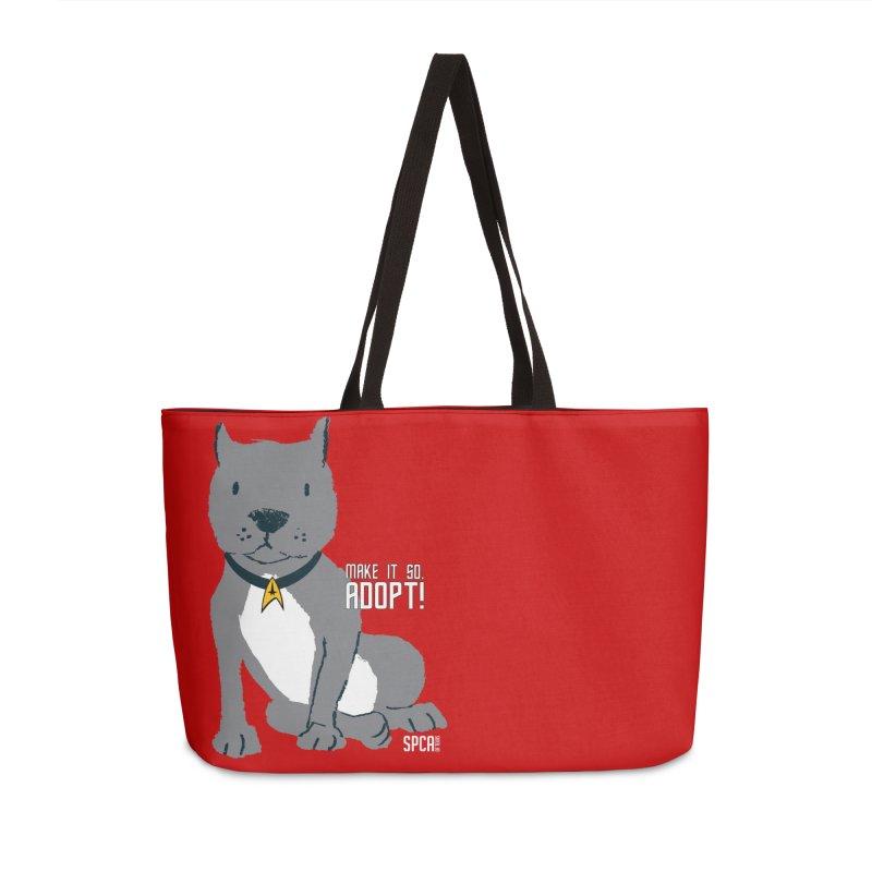 Make it so. Adopt! Accessories Weekender Bag Bag by SPCA of Texas' Artist Shop