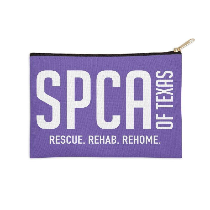 SPCA of Texas Logo Accessories Zip Pouch by SPCA of Texas' Artist Shop
