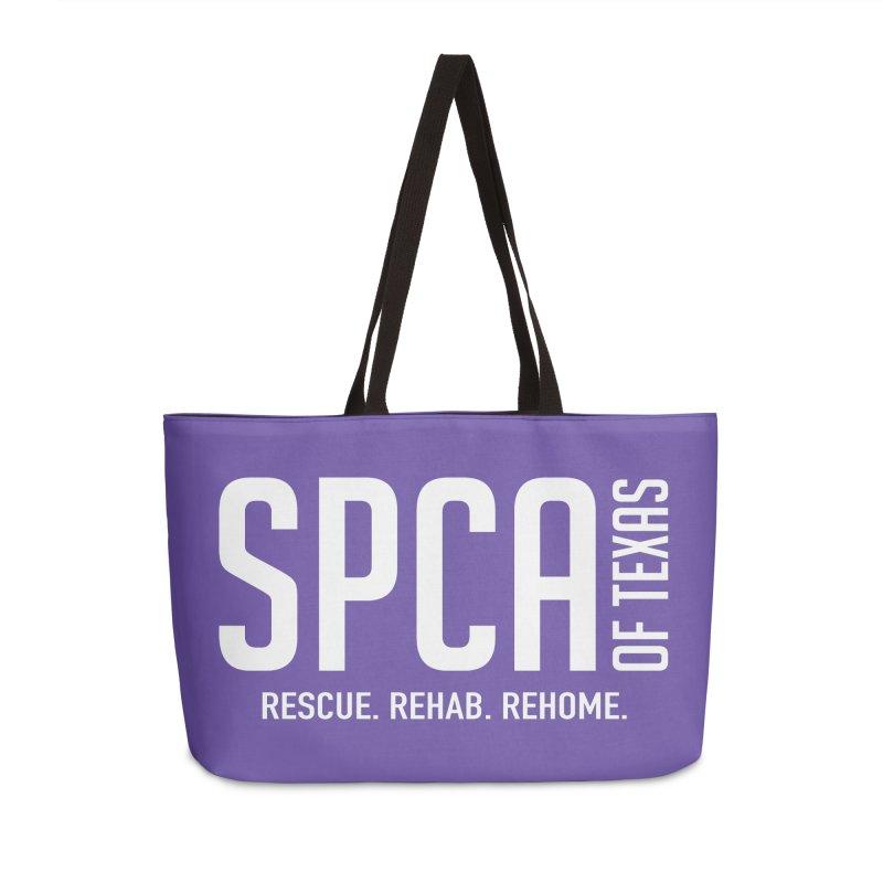 SPCA of Texas Logo Accessories Weekender Bag Bag by SPCA of Texas' Artist Shop