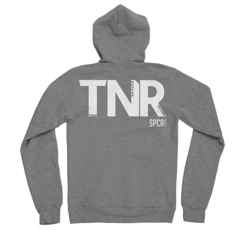 TNR - Trap Neuter Return Men's Sponge Fleece Zip-Up Hoody by SPCA of Texas' Artist Shop