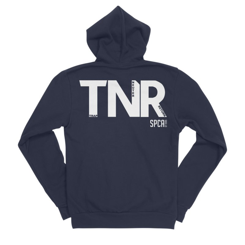 TNR - Trap Neuter Return Men's Sponge Fleece Zip-Up Hoody by SPCA of Texas' Artist Shop