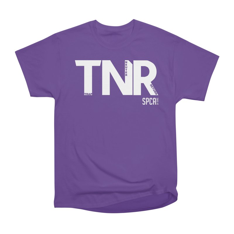 TNR - Trap Neuter Return Women's Heavyweight Unisex T-Shirt by SPCA of Texas' Artist Shop