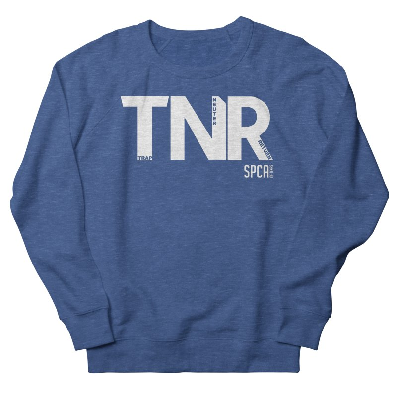 TNR - Trap Neuter Return Men's French Terry Sweatshirt by SPCA of Texas' Artist Shop
