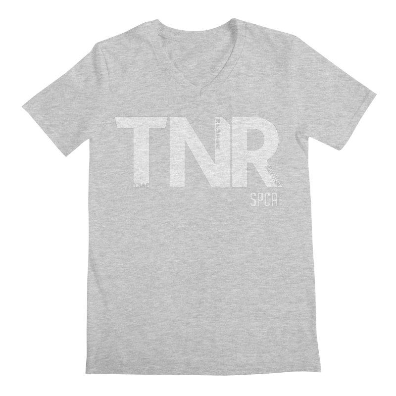 TNR - Trap Neuter Return Men's Regular V-Neck by SPCA of Texas' Artist Shop