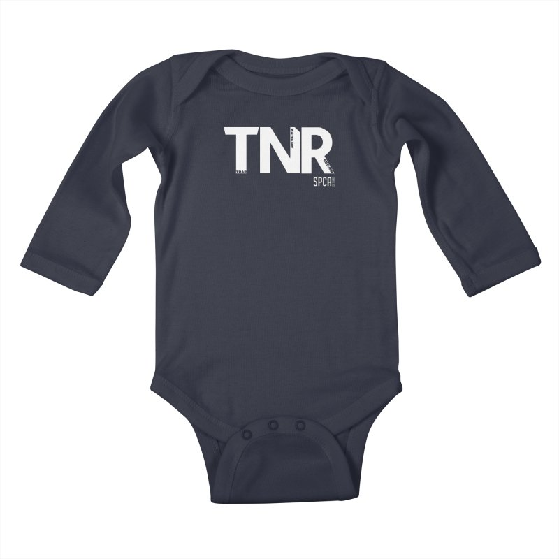 TNR - Trap Neuter Return Kids Baby Longsleeve Bodysuit by SPCA of Texas' Artist Shop