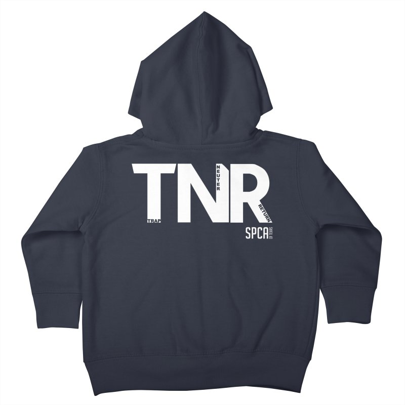 TNR - Trap Neuter Return Kids Toddler Zip-Up Hoody by SPCA of Texas' Artist Shop