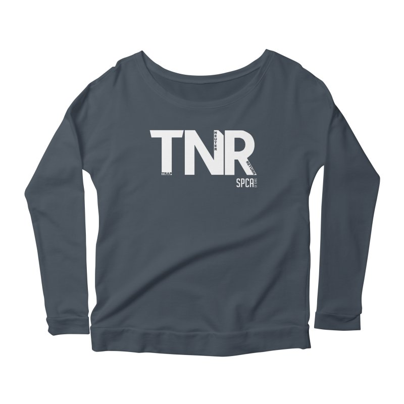 TNR - Trap Neuter Return Women's Scoop Neck Longsleeve T-Shirt by SPCA of Texas' Artist Shop