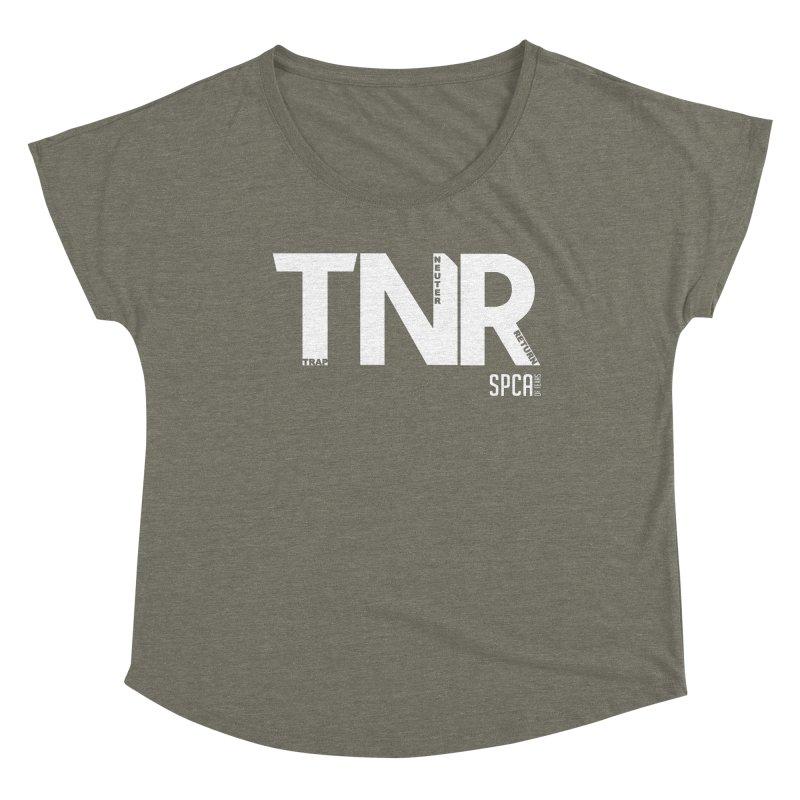 TNR - Trap Neuter Return Women's Dolman Scoop Neck by SPCA of Texas' Artist Shop