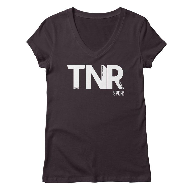 TNR - Trap Neuter Return Women's Regular V-Neck by SPCA of Texas' Artist Shop