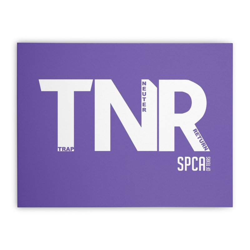 TNR - Trap Neuter Return Home Stretched Canvas by SPCA of Texas' Artist Shop