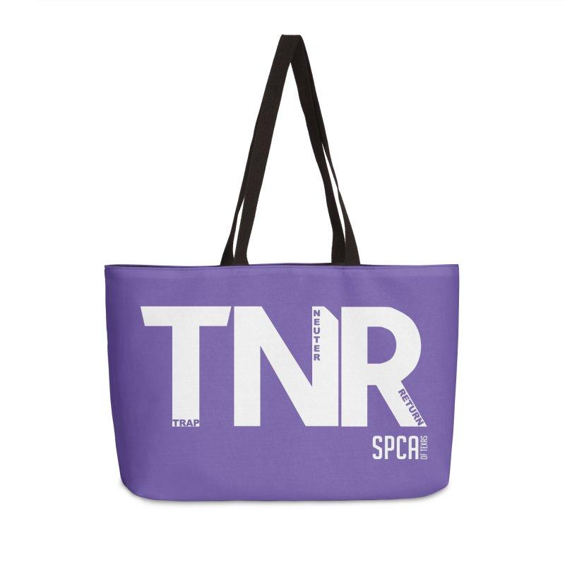 TNR - Trap Neuter Return Accessories Weekender Bag Bag by SPCA of Texas' Artist Shop