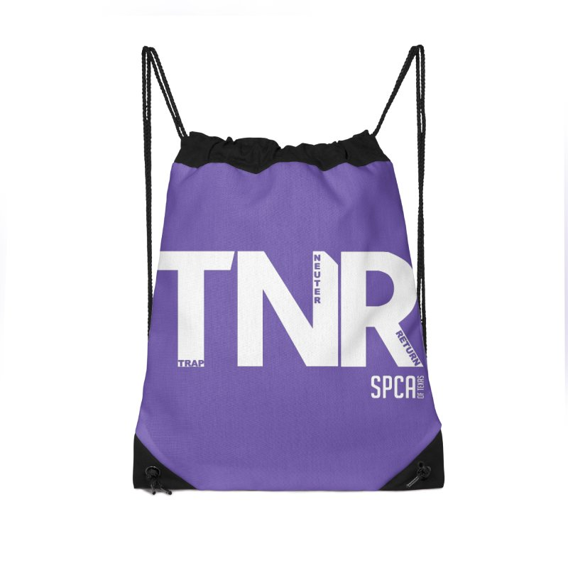TNR - Trap Neuter Return Accessories Drawstring Bag Bag by SPCA of Texas' Artist Shop
