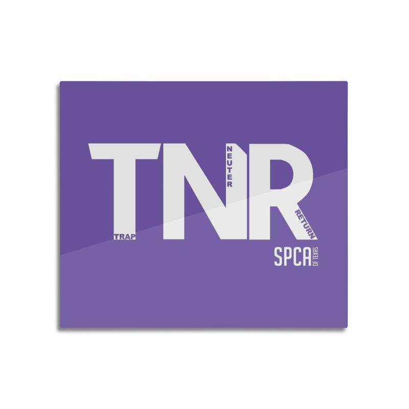 TNR - Trap Neuter Return Home Mounted Aluminum Print by SPCA of Texas' Artist Shop