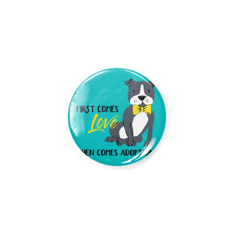 Pit Bull Love Accessories Button by SPCA of Texas' Artist Shop